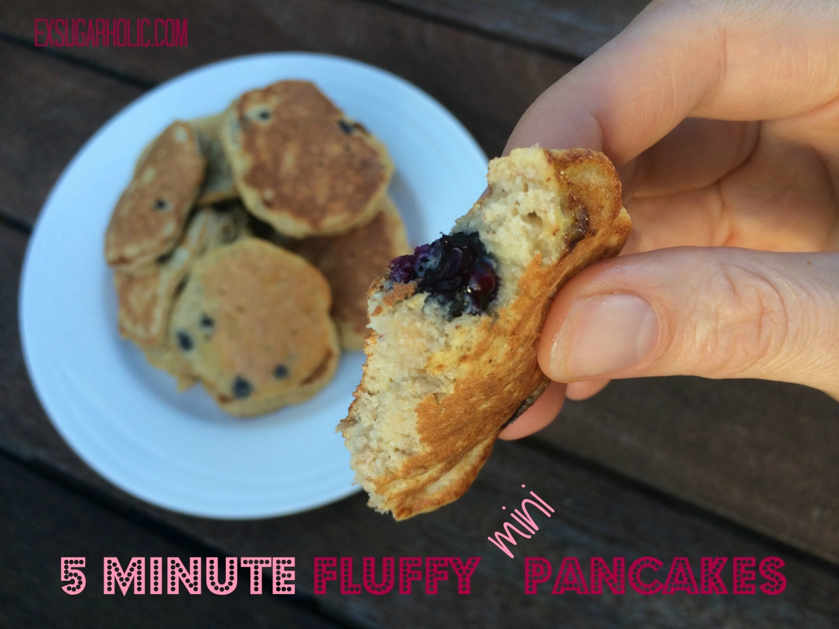 5 minute fluffy mini pancakes