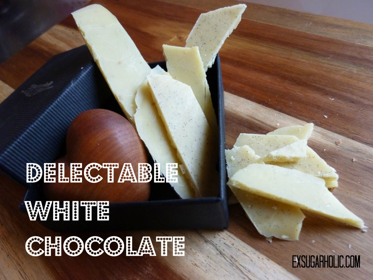 Delectable white chocolate