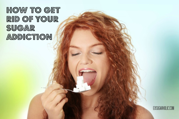 lady eating sugar cubes - how to get rid of your sugar addiction TEXT