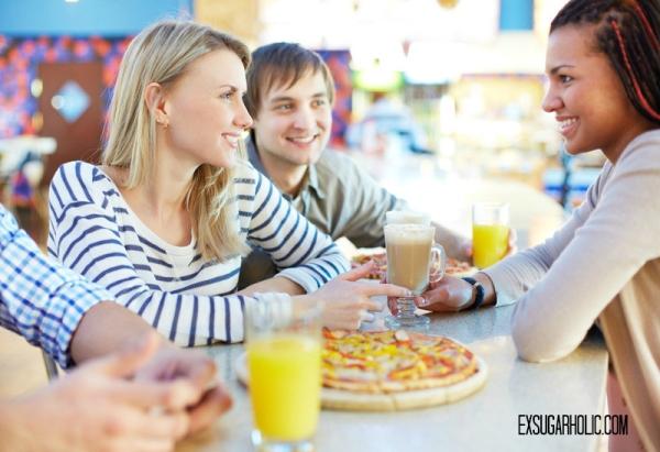 Friends at cafe eating (blog)